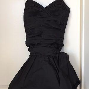BCBG black Taffeta dress. Size 6.